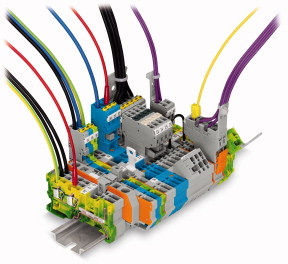 WAGO Pluggable Rail-Mounted Terminal Block System